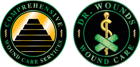 comprehensive wound care services and Dr. Wounds wound care logos